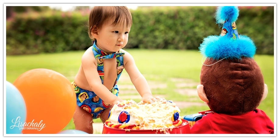 Cake Smash Baby Portrait Photography Honolulu, Hawaii ©LisaChalyPhotography